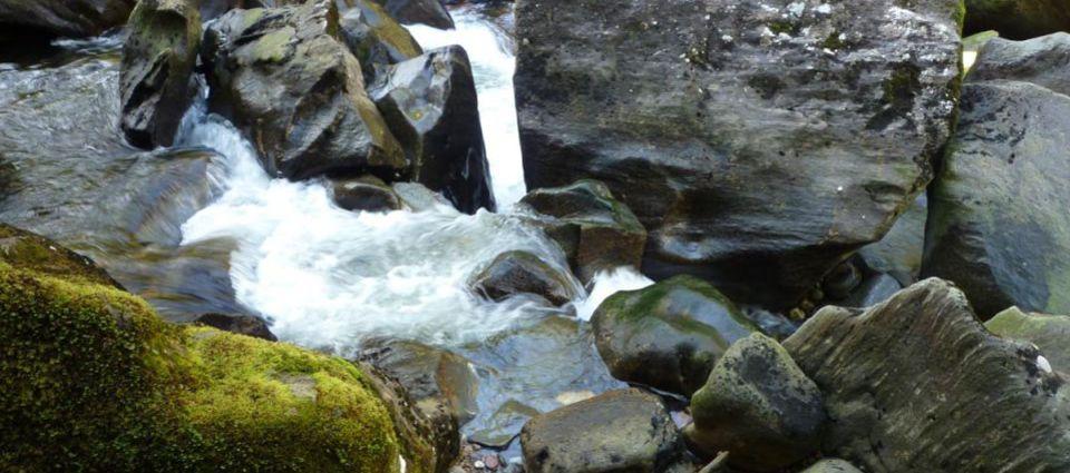 Giant boulders in Glen Nevis