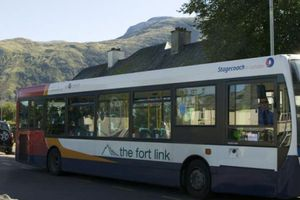 The bus service in Inverlochy