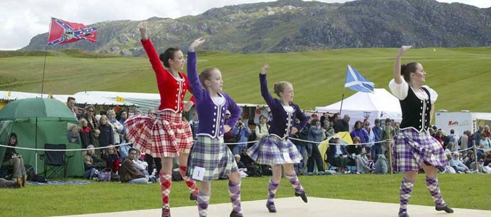 Highland Dancers in the air