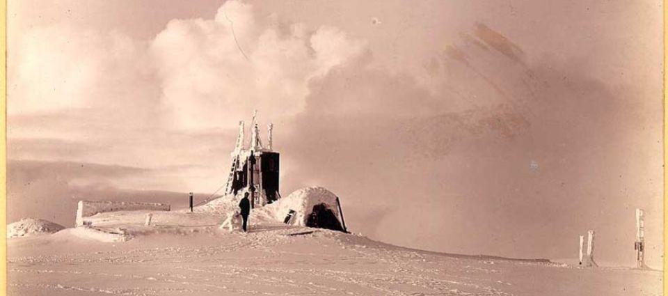 Ben Nevis Observatory in winter
