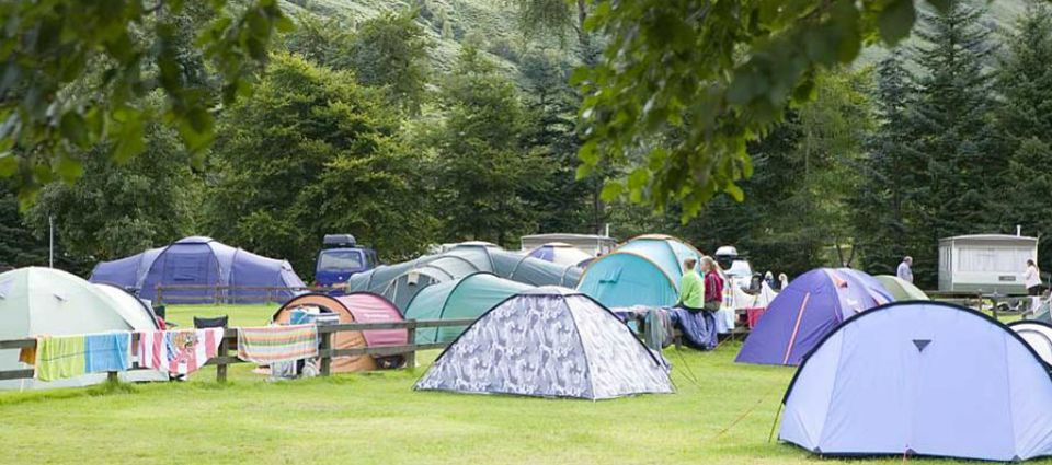 Camping scene in Fort William