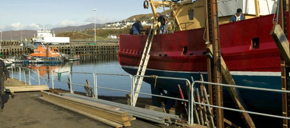 Marine repairs at Mallaig