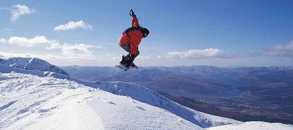 Snowboarding Fort William