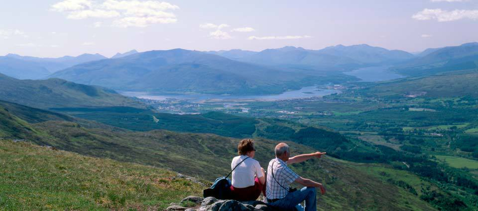 Panoramic views from Nevis Range