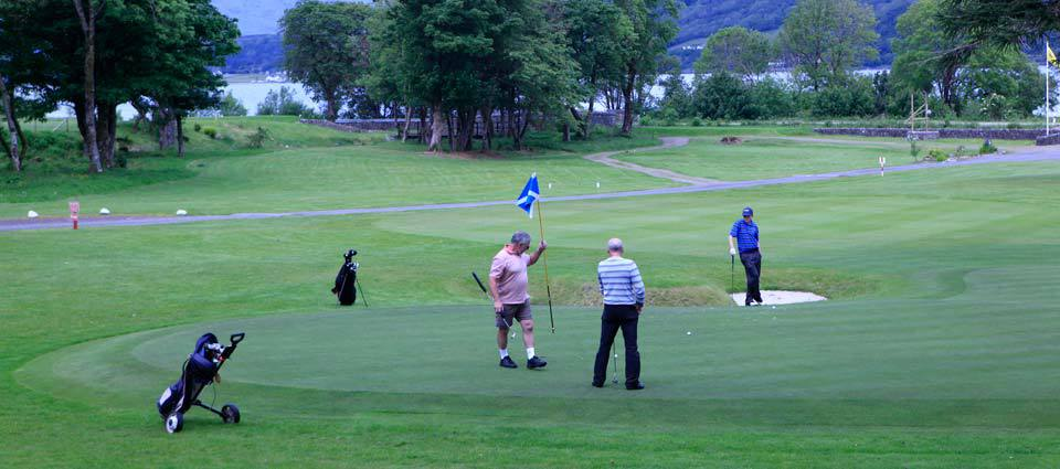 Golfing at Ballachullish