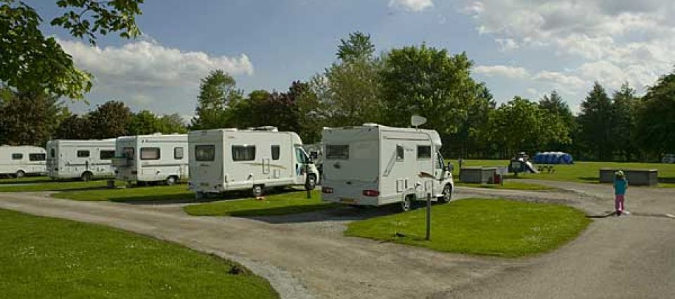 Motorhome pitches at Fort William