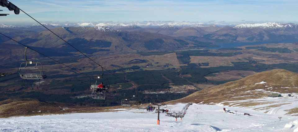 The Ski chairlift in the Great Glen