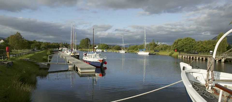 Canal pontoons at Banavie