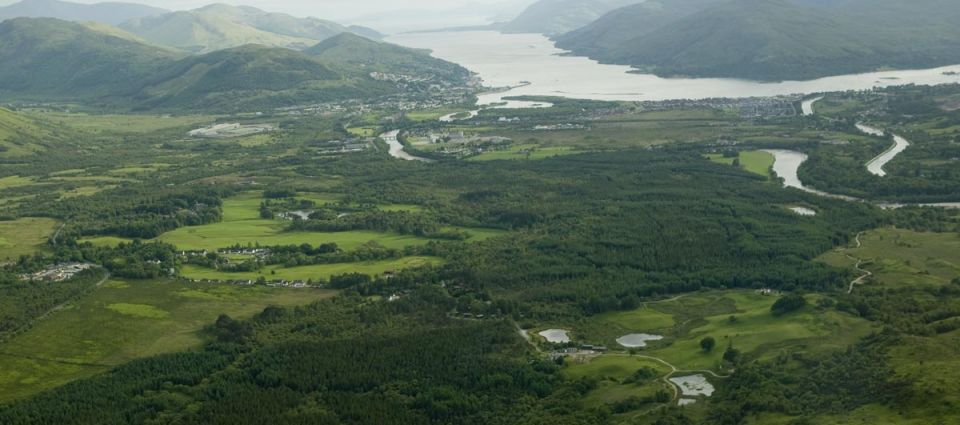 Aerial view of Loch Linnhe and Fort William