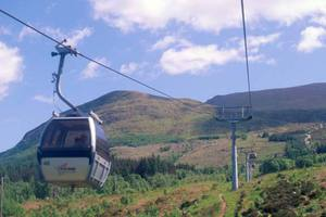 Take a gondola ride on Aonach Mor