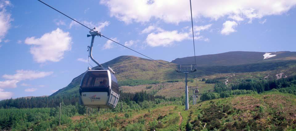 Take a gondola ride on Aonach Mor