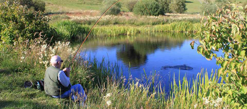 Trout fishing at Torlundy Farm