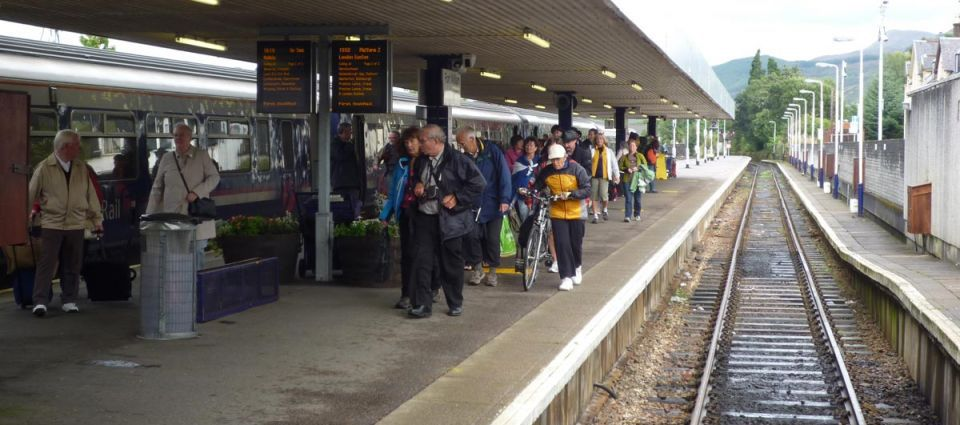 Fort William rail passengers