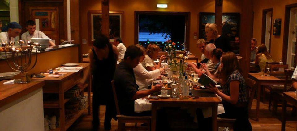 The intimate restaurant