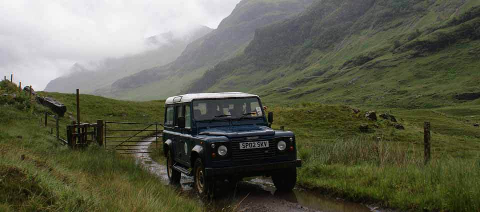 Land Rover safaris in Glencoe