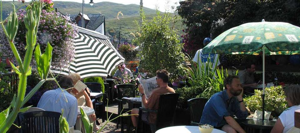 Relaxing in one of Mallaig's restaurants