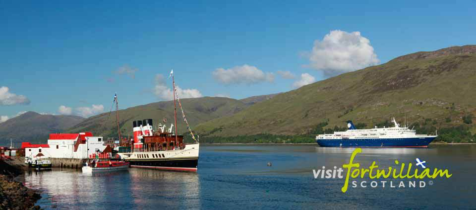 Cruise boats on Loch Linnhe