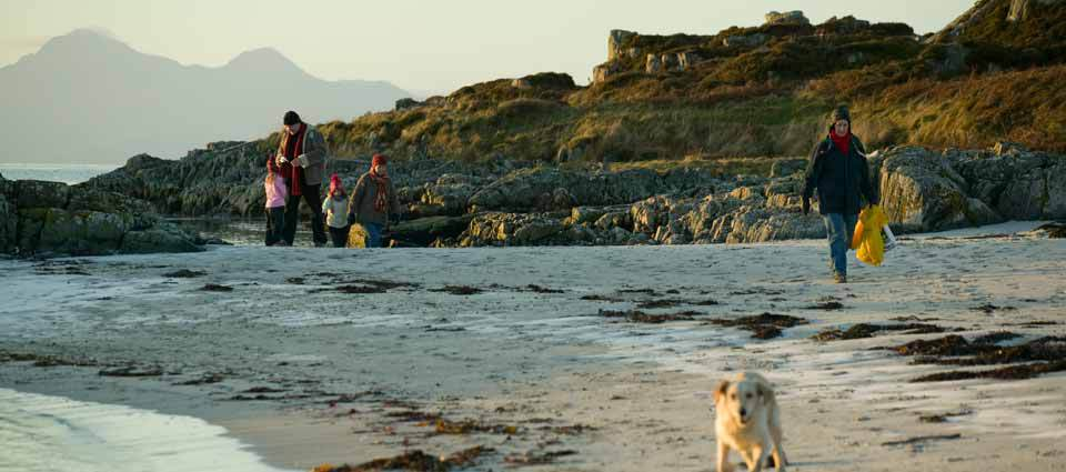 Walking on Traigh Beach at Arisaig