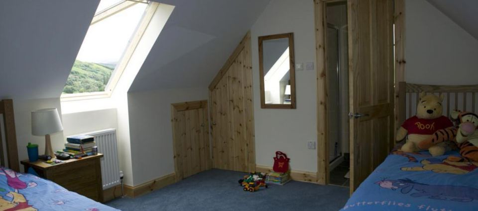 Upstairs bedroom in Rose Cottage