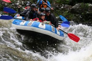 Large white water rafting river garry