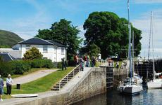 Moorings Hotel from Caledonian Canal