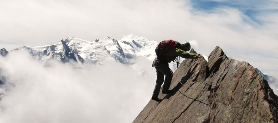 Climbing in the Alps