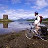 Thumbnail cycling nr appin argyll with castle stalker and morvern hills copy copy