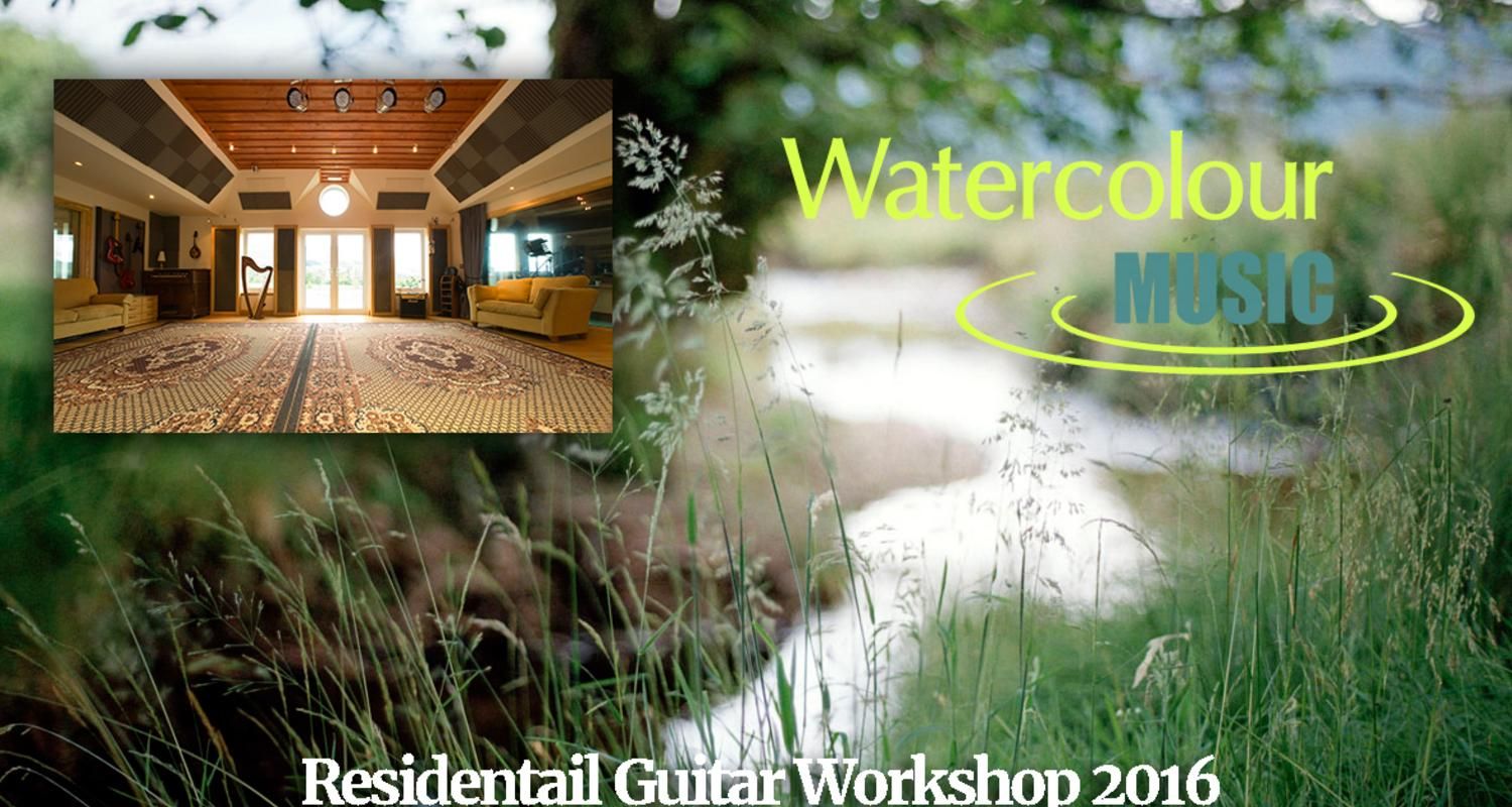 Large watercolour guitar workshop 2016
