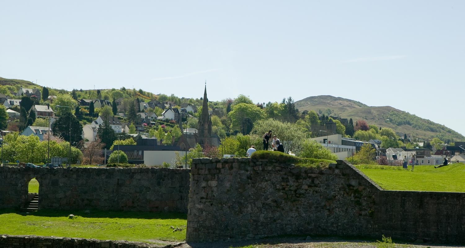 The site of the Old Fort in Fort William