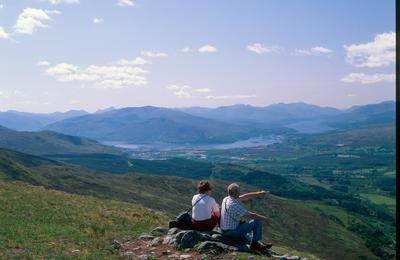 Enjoy stunning views from Nevis Range