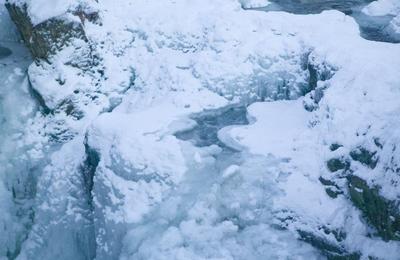 Frozen Lower Falls