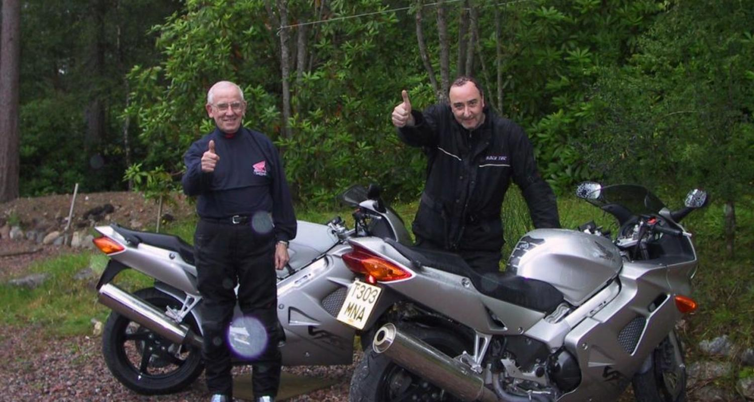 Bikers touring the Highlands