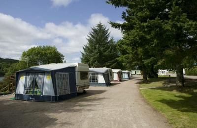 Terraced caravan pitches Fort William