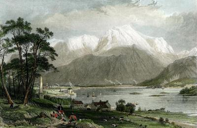 A romantic etching of Ben Nevis