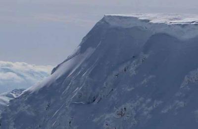Nevis range snow cornice