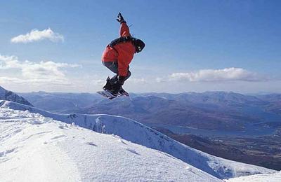 Snowboarding Fort William