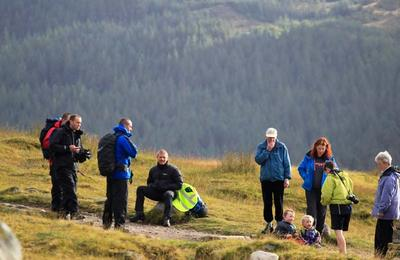 Walkers on Ben Nevis