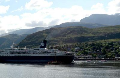 A cruise ship at Fort William