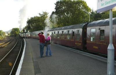 Steam Train departs from Fort William