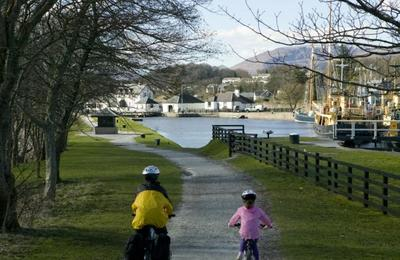 Cycling to Corpach