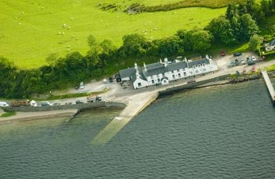 The ferry slipway