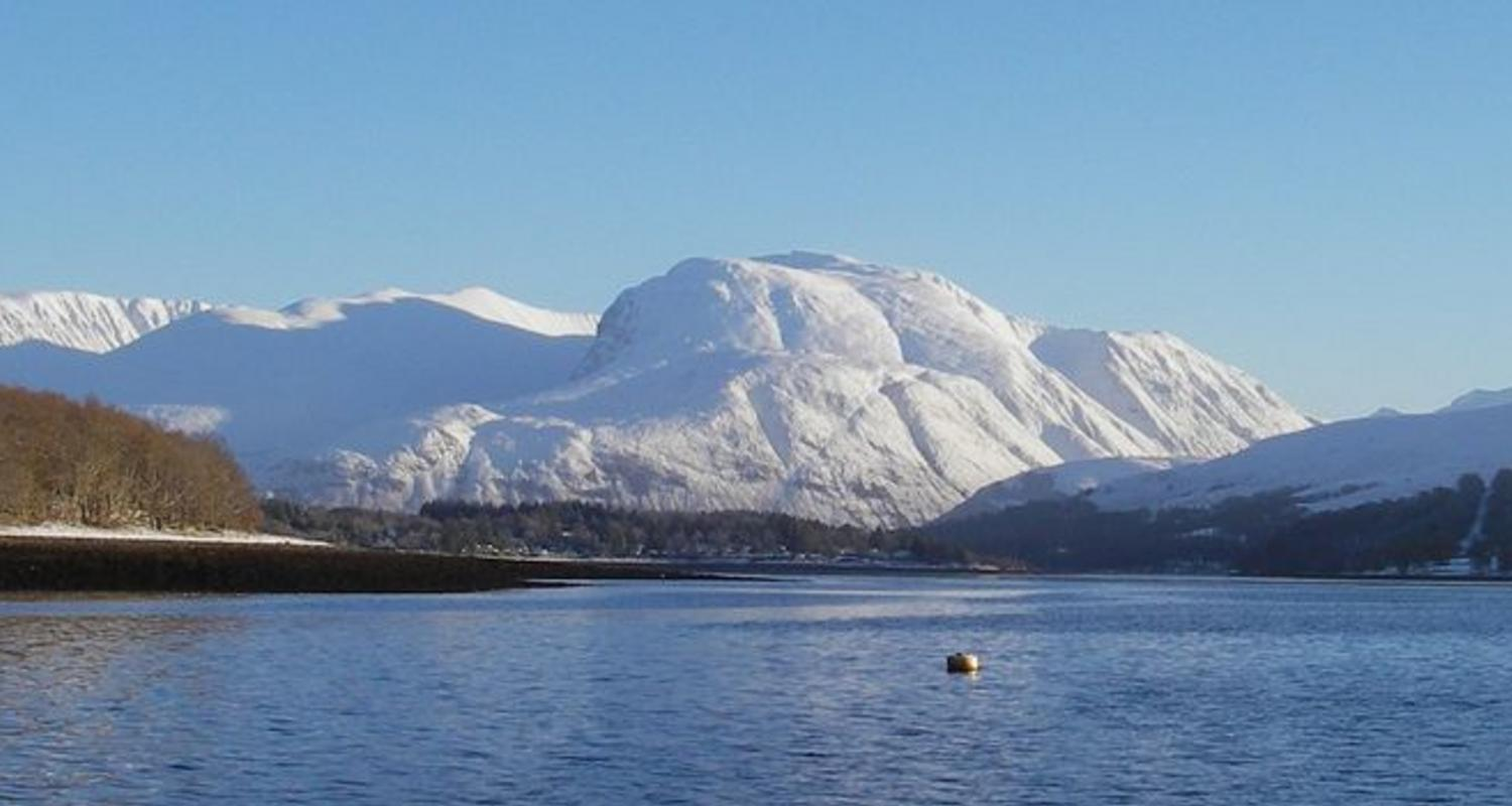Large ben nevis and fort william from loch eil